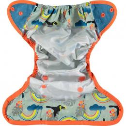 Culotte de protection pour couches lavables - Taille unique pression - Toucan