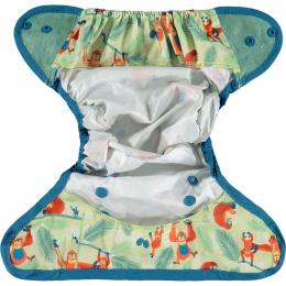 Culotte de protection pour couches lavables - Taille unique pression - Ourang Outan