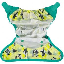 Culotte de protection pour couches lavables - Taille unique velcro - Lémur