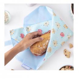 Pochette sandwich lavable et réutilisable Boc'n'Roll - Pâtisseries et pommes