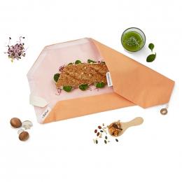Pochette sandwich lavable et réutilisable Boc'n'Roll BIO - Orange