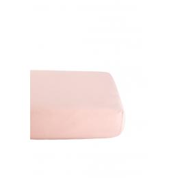 Drap Housse en Coton Bio pour lit bébé - 60x120 cm - Rose pâle