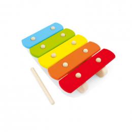 Xylophone en bois arc en ciel