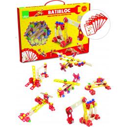 Coffret jeu bricoleur Batibloc en bois - à partir de 4 ans